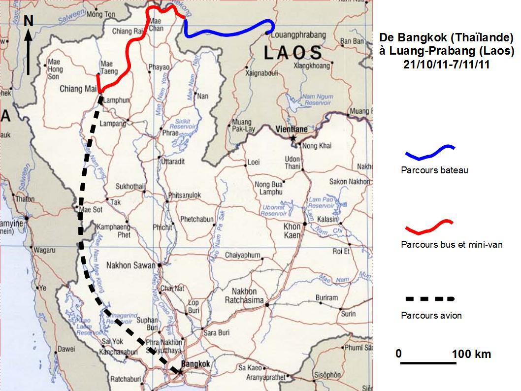 Carte Thailande Nord Ouest.Vue D Un Planisphere Tour Du Monde En Famille
