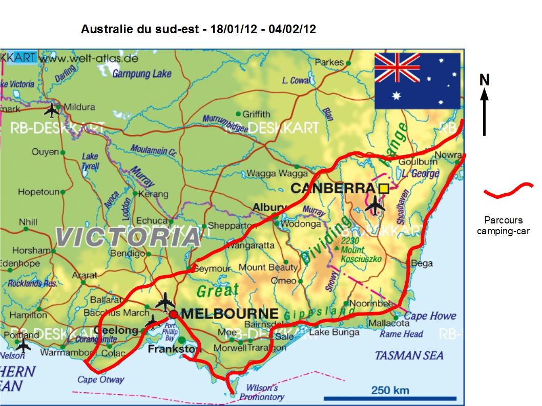 Carte Australie Du Sud Est.Vue D Un Planisphere Tour Du Monde En Famille